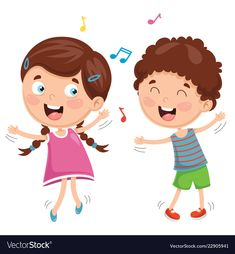 Find Vector Illustration Kids Dancing stock images in HD and millions of other royalty-free stock photos, illustrations and vectors in the Shutterstock collection. Thousands of new, high-quality pictures added every day. Paper Boat Origami, Action Pictures, Action Words, Music For Kids, Cartoon Kids, Kids Dancing, Art Music, Cute Drawings, Preschool