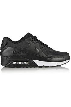 Black leather, black and charcoal jacquard Lace-up front