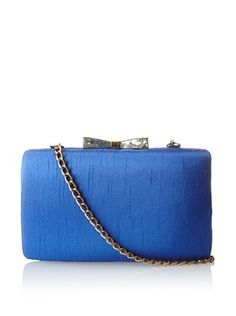 52% OFF KAYU Women's Satin Shell Clasp Clutch, Blue Satin
