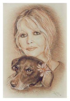 Brigitte Bardot by mulderxf {from France} ~ Sanguine portrait