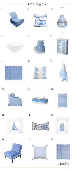 pantone little boy blue, interior design product roundup, get the look, color for interiors, color trends 2018, color trends, interior design color trends, periwinkle blue