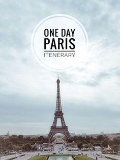 One Day in Paris   http://www.deluxshionist.com/2017/02/explore-paris-like-tourist-1-day.html #ParisItinerary #Paris #CityGuide #Travel