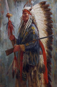 The Chief's New Gun, Lakota - by James Ayers