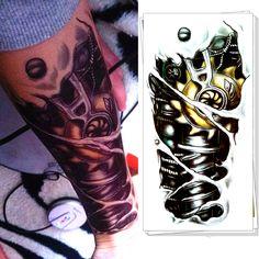 Robot Braccio Della Macchina Flash Tattoo Adesivi Temporaneo Body Art, 12*20 cm Impermeabile Tatto Henné Tatoo Stile di Estate Adulto Prodotti Del Sesso