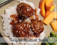 Teriyaki Meatball Bowls ~ A Reinvented Mom