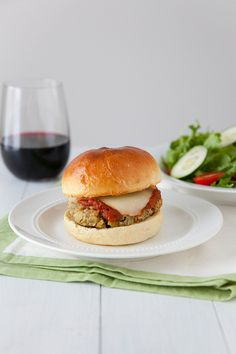 Eggplant Parmesan Burgers | Annie's Eats: , these burgers have the exact same flavor but are far less labor intensive.