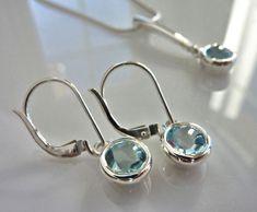 Topaz earrings in sterling silver Topaz Earrings, Pearl Earrings, Drop Earrings, Jewelry Design, Pearls, Sterling Silver, Men, Pearl Studs, Beads