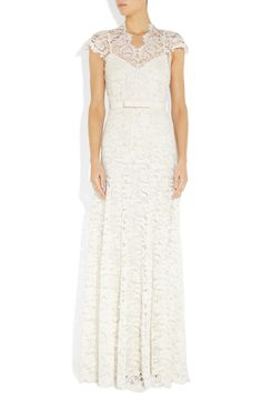 Temperley London | Floral-lace and silk gown | NET-A-PORTER.COM