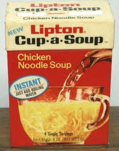 cup of soup 1970s | Lipton Cup-a-Soup or Noodle Soup