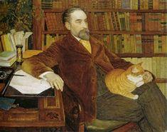Ernest Bieler Portrait de lecrivain Edouard Rod 1909