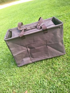 gray Utility Tote/GRAY All Purpose Large Utility Tote with Monogram