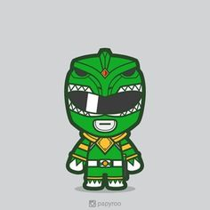 I don't like green color. But this dude was an exception, other than Hulk, and Piccolo of course. Power Rangers Art, Mighty Morphin Power Rangers, Vector Design, Vector Art, Bb Style, Dragon Z, Baby Superhero, Green Ranger, Cartoon Pics