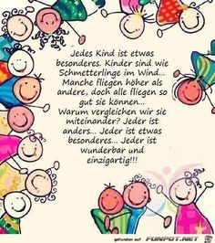 Every child is special. Children are like butterflies in the wind. Some … – Kinder