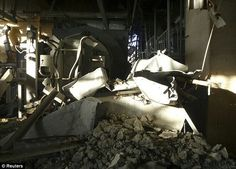 Inside the wrecked #4 reactor at the Fukushima nuclear power plant