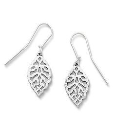 Lacey Leaf Ear Hooks | James Avery
