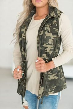 Camo Utility Vest  There's just something about camo! I LOVE this! #mindymaesmarket #dreamcloset
