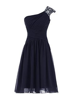 Diyouth Beaded One Shoulder Short Chiffon Pleated Prom Bridesmaid Dress Navy Size 6 Diyouth http://www.amazon.com/dp/B00QLRVGEU/ref=cm_sw_r_pi_dp_qweWub1PMEXWM