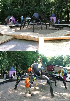 Danish company created the best playgrounds you may ever see. It's building inventive one-of-a-kind playgrounds that can be dream of any kid. Play Structures For Kids, Kids Play Area, Playgrounds, Kids Playing, Danish, Denmark, Cosplay, World, Children