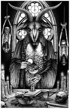 Goetia by on DeviantArt Satanic Tattoos, Satanic Art, Baphomet, Fantasy Kunst, Dark Fantasy Art, Arte Horror, Horror Art, Evil Art, Macabre Art