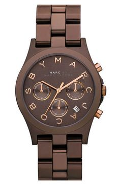 Chocolate Bronze and Rose Gold Marc Jacobs watch....