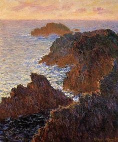 Claude Monet, Rocks at Belle-Ile, Port-Domois, 1886 on ArtStack #claude-monet #art