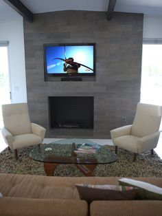 Tv Over Slate Fireplaces Design, Pictures, Remodel, Decor and Ideas - page 2
