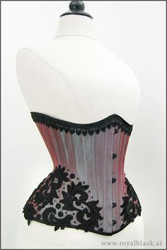 Royal Black Couture Corsetry- beautiful work