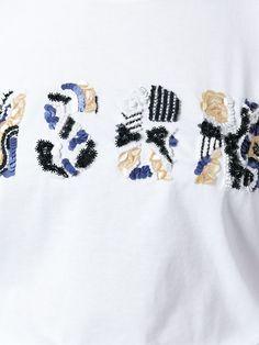 Msgm Beaded Logo T-shirt - Projecteurs - Farfetch.com