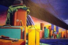 Eduardo Úrculo (1938-2003) – El Nuevo Mundo (1992) Fundación Archivo de Indianos - Museo de la Emigración, Colombres, Espagne