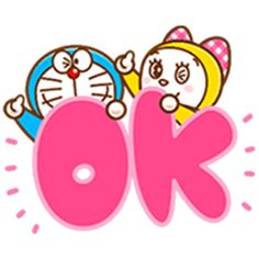 LINE Official Stickers - Doraemon's Animated Phrases Example with GIF Animation My Little Pony Friends, Doraemon Cartoon, Doraemon Wallpapers, Good Night Gif, Big Letters, Cute Messages, Cartoon Stickers, Anime Fnaf, Sanrio Characters