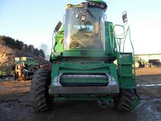 John Deere 9500 combine salvaged for used parts. This unit is available at All States Ag Parts in Downing, WI. Call 877-530-1010 parts. Unit ID#: EQ-25275. The photo depicts the equipment in the condition it arrived at our salvage yard. Parts shown may or may not still be available. http://www.TractorPartsASAP.com
