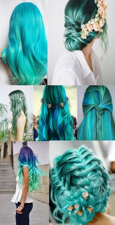 Water Nymph Hair Types  - Teal.... I never even knew these existed!  Water nymphs... HOT!