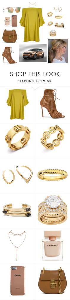 """Untitled #318"" by alessian ❤ liked on Polyvore featuring River Island, Gianvito Rossi, Tory Burch, Bijules, Lisa Eisner, Narciso Rodriguez, Harrods, Chloé and Bulgari"