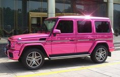 metallic pink G wagon. Duhhhh. (I need this. This, and the leopard print Uggs with bows I pinned a while back. Need.)