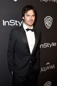 Pin for Later: The Eye Candy at This Year's Golden Globes Might Actually Make Your Heart Skip a Beat  Pictured: Ian Somerhalder
