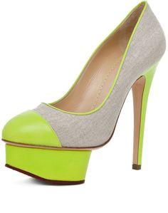 Monacoco Heel in Acid Green Natural - Lyst
