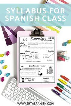 Syllabus for Spanish Class - Srta Spanish
