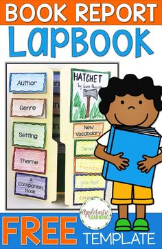 """If you've ever wondered how to make a lap book, today's your day! You'll learn how to make a lapbook with your 2nd, 3rd, 4th, 5th, or 6th grade classroom and home school students. Plus you get a FREE book report lapbook template when you sign up for our mailing list. This is a great """"how-to"""" blog post that allows your students to create a complete DIY project. It's great for helping students meet their reading goals withOUT a boring book report. Grab this freebie now!"""