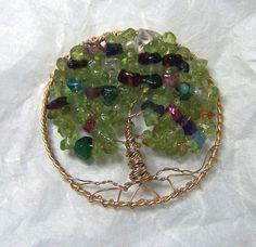 Birthstone Family Tree of life Jewelry Grandma or by mandalarain, $65.00