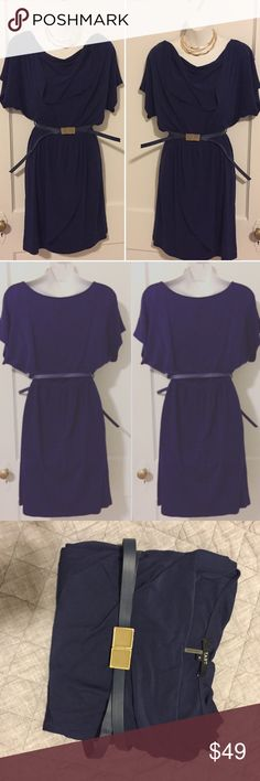 Tart dress Navy Blue Size small. Tart dress navy blue size small. Belted at waist, beautiful Flare skirt. Cotton. Excellent used condition. Genuine Leather belt, adjustable. Lilly Pulitzer Dresses