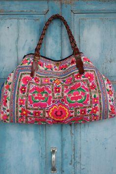 hmong tribe bags | Luxury Lanna vintage hmong tribe tote bag Rare Miao fabric hb2012-222