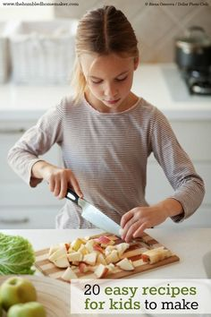 Get your kids busy in the kitchen with these 20 easy recipes for kids. Also great tips for how to teach kids to cook!