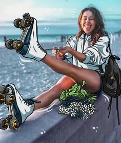 #girl #skates #fashion #illustration