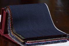 Navy Blue Herringbone Cashmere Jacketing