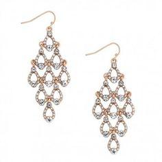 Mood Statement crystal encased chandelier earring- at Debenhams ...
