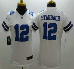 Nike Dallas Cowboys Jersey 12 Roger Staubach White Limited Womens Jerseys