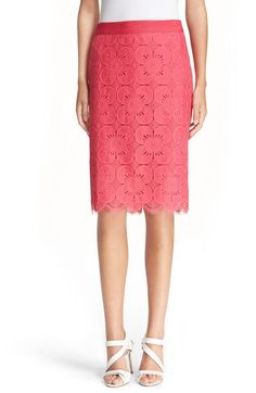 Trina Turk 'Paltrow' Floral Lace Pencil Skirt available at #Nordstrom