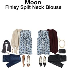 Finley Split Neck Blouse by hanger731x on Polyvore featuring Gap, Witchery, Forever 21, Paper Dolls, MARC BY MARC JACOBS, Miguel Ases and Eddie Borgo