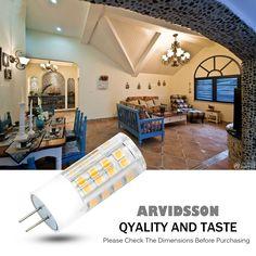 ARVIDSSON G4 LED Bulb 4W(40W Halogen Spotlight Equivalent) 3000K Warm…