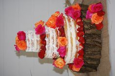 Naked cake with raspberry filling, fresh strawberries and roses ... For a Wedding Cake Guide ... https://itunes.apple.com/us/app/the-gold-wedding-planner/id498112599?ls=1=8  ... The Gold Wedding Planner iPhone App.